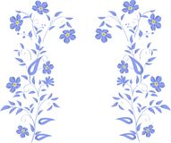 Simple blue flowers design Royalty Free Stock Photography
