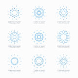 Simple blue geometric abstract symmetric shapes Royalty Free Stock Images