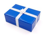 Simple blue gift Stock Photos