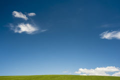 Simple blue green horizon Stock Images