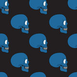 Simple blue human skull pattern Royalty Free Stock Photos