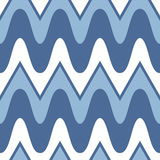 Simple blue scalloped seamless pattern Stock Photos