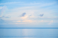 Simple blue sky and sea Stock Images