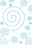 Simple Blue Spiral Background. Design, good for wallpaper, background, design etc Royalty Free Stock Photos