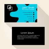 Simple blue spot black business card design Royalty Free Stock Photo