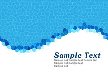 Simple blue template Royalty Free Stock Photo