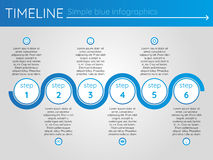 Simple blue timeline 15, infographics. For buisness presentation Royalty Free Illustration