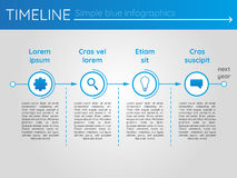 Simple blue timeline 20, infographics. For buisness presentation Royalty Free Stock Images