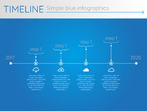 Simple blue timeline 23, infographics. For buisness presentation Royalty Free Illustration