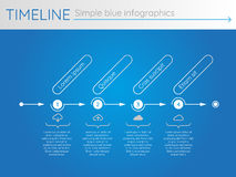 Simple blue timeline 25, infographics. For buisness presentation Stock Photo