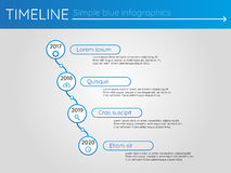 Simple blue timeline 17, infographics. For buisness presentation Stock Photography