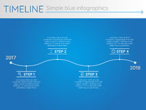 Simple blue timeline 29, infographics. For buisness presentation Royalty Free Illustration