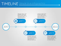 Simple blue timeline 1, infographics vector. For buisness presentation Royalty Free Illustration