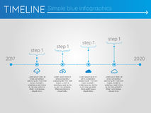 Simple blue timeline 3, infographics vector. For buisness presentation Stock Illustration