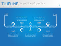 Simple blue timeline 27, infographics vector. For buisness presentation Royalty Free Illustration