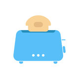 Simple blue toaster icon Stock Photography