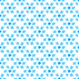 Simple blue and white grunge hand drawn flowers seamless pattern, vector. Background Royalty Free Stock Photo