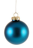 Simple Blue Xmas Bauble Stock Photos
