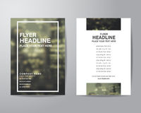 Simple blur background brochure flyer design layout template in Stock Photography