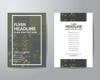 Simple blur background brochure flyer design layout template in Royalty Free Stock Images