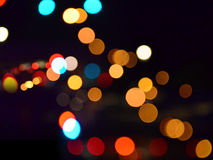 Simple Bokeh at night Stock Photography