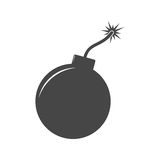 Simple bomb icon Royalty Free Stock Photos