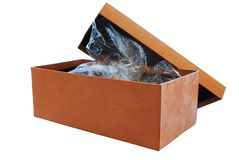 Simple box. (packing) for a commodity as a background Royalty Free Stock Photo