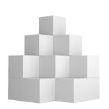 Simple Box Display, Isolated. On White Background. 3D Illustration Royalty Free Stock Photos