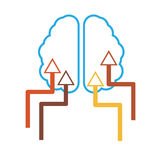 Simple brain icon Stock Photo