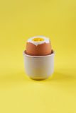 Simple breakfast with boiled egg Royalty Free Stock Photo