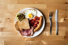 Simple breakfast food on table n the morning.healthy eating royalty free stock photo