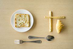 Simple breakfast Stock Photography