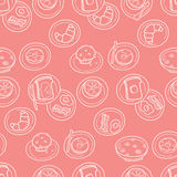 Simple Breakfast Pattern Royalty Free Stock Photography