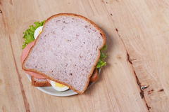 Simple breakfast with Sandwich and egg Royalty Free Stock Photography