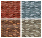 Simple Brick Pattern Collection Stock Photo