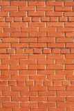 Simple brick wall. Simple brick wall laid with a red brick Royalty Free Stock Photos