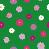 Simple bright cosmos flower pattern. Simple bright cheerful cosmos flower floral pattern Vector Illustration