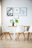Simple bright dining room Stock Photo