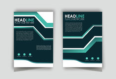 Simple brochure flyer design layout royalty free stock photography