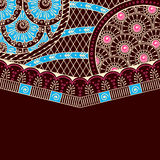 Simple brown background inspired by Indian mehndi  Royalty Free Stock Photos