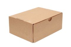 Simple carton box Royalty Free Stock Image