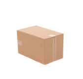 Simple brown carton box Royalty Free Stock Photos