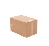 Simple brown carton box Royalty Free Stock Photos