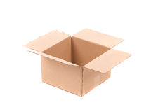 Simple brown carton box Royalty Free Stock Images