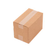 Simple brown carton box Royalty Free Stock Photography