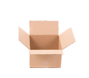 Simple brown carton box Royalty Free Stock Photo