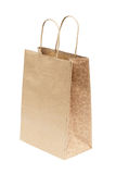 Simple brown paper bag isolated over white background Royalty Free Stock Image