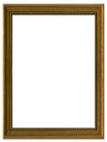 Simple brown picture frame Stock Photo