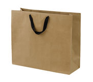 Simple browse recycled paper bag isolated on white background Royalty Free Stock Images