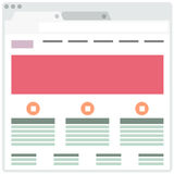 Simple Browser window Royalty Free Stock Photography